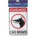 PLACA SINALIZADORA 20X30 CÃO BRAVO 5 CA