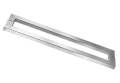Puxador SS Inox Escovado 60cm x 56,2cm para Porta de Vidro ou Madeira